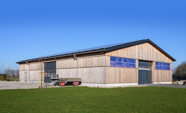 Neubau einer Lagerhalle mit Satteldach